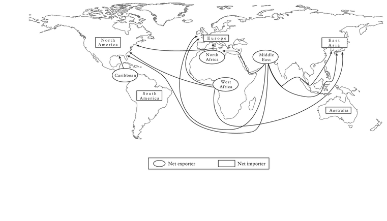 Figure 2: Major crude oil trade routes, 2007