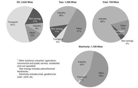 Figure 3: World energy consumption by fuel and sector, 2007
