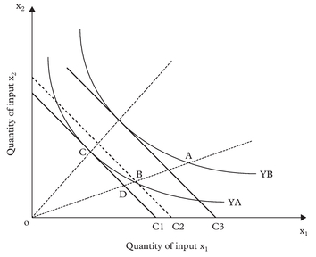 Figure 1: A firm's frontier production function